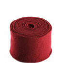 groothandel Woondecoratie: Pot band voelde, breedte 15cm, lengte 5 m, bordeau